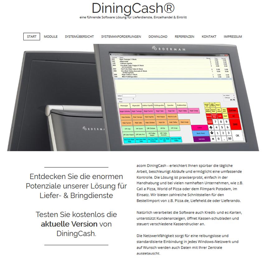 DiningCash® eine führende Software Lösungen für Lieferdienste, Einzelhandel & Eintritt